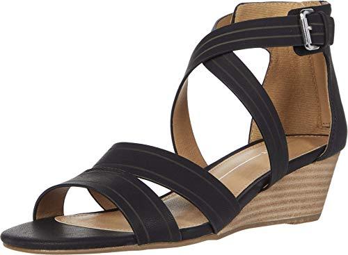 Report Damen MAGNUS Keilabsatz-Sandale, schwarz, 39 EU