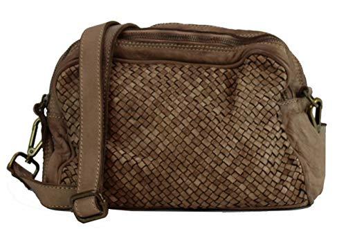 BZNA Borsa Lucy Beige Toffee Italy Designer Clutch Braided Borsa a tracolla da donna borsa a tracolla borsa in pelle Shopper