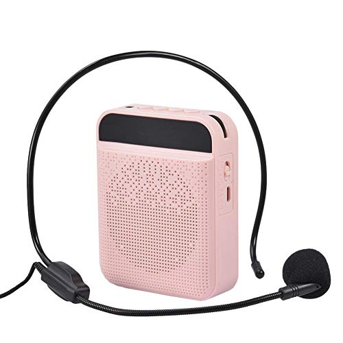 Portable Voice Amplifier Wireless with Microphone, Small Bluetooth Speaker Clear and Loud with Headset Mic, Support TF/SD Card/USB/FM Radio/AUX, Sound Amp System for Teachers, Tour Guides, Singing