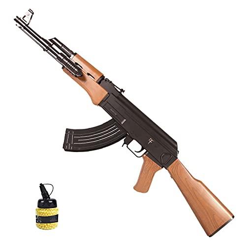 Rifle Saigo AK47 Muelle (6mm) | Arma Larga de Airsoft Tipo Kalashnikov AK47 + biberón de Bolas de PVC