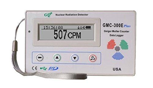Contador Geiger Mueller GQ GMC-300E-Plus Digital Geiger Counter Nulcear Radiation Detector Monitor Meter dosimeter Beta Gamma X ray data logger recorder realtime