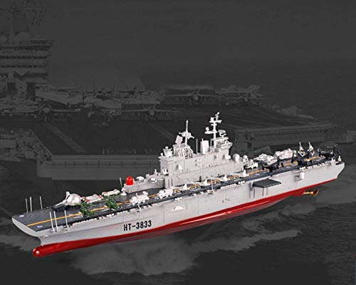 "FMT 29"" Inch Remote Control US Navy Amphibious Assault Battleship 2.4Ghz RC USN Military Battle Ship Marine Warship 1/350 Model Boat"