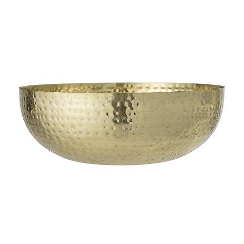 Bloomingville Marokkanische Obstschüssel im gehämmerten Look in Gold Maße: Ø36xH13 cm -Schüssel Korb Schale