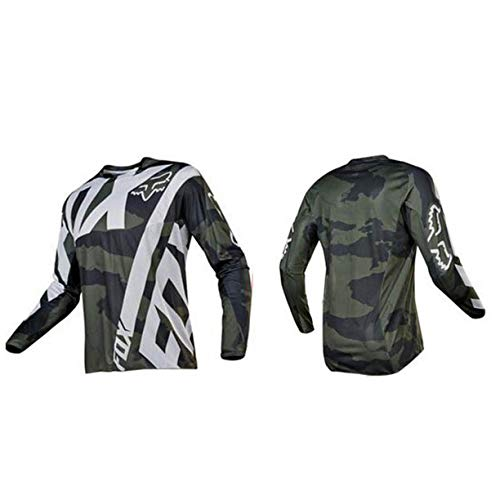 FMBK666 Jersey de Ciclismo Deportes al Aire Libre Jersey de Descenso para Hombre Rage MTB Camiseta de Ciclismo de Manga Corta/Larga, Pantalones Cortos con Tirantes Ropa de Bicicleta