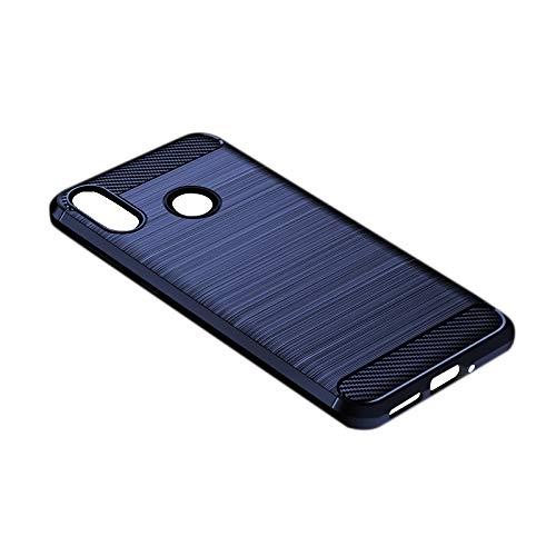 MAGFUN Adecuado para Zenfone MAX M2 Case, Anti-Drop Silicone TPU Brushed Protective Soft Shell Azul