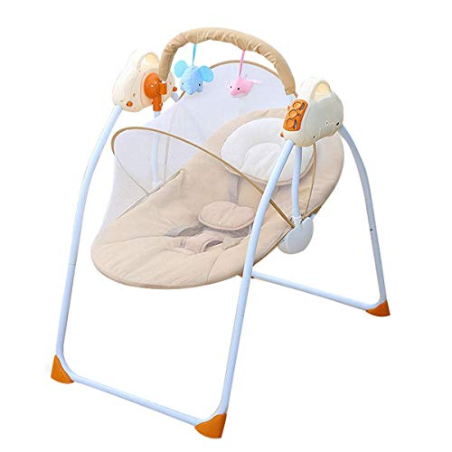 Silla eléctrica de Mecedora del bebé, Hamaca con Almohadas y mosquiteras y...