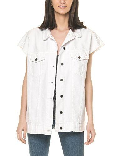 Dr Denim Jeansmakers Women's Vera Women's White Jacket-Vest In Size M White
