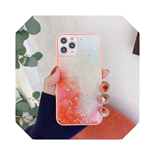 Bling Glitter Star Silikon Case für iPhone 11 12 Pro Max Case Epoxidharz Clear Cover für iPhone 12 Mini SE 2020 XS Max X XR 7 8 Plus 5 Gold XS