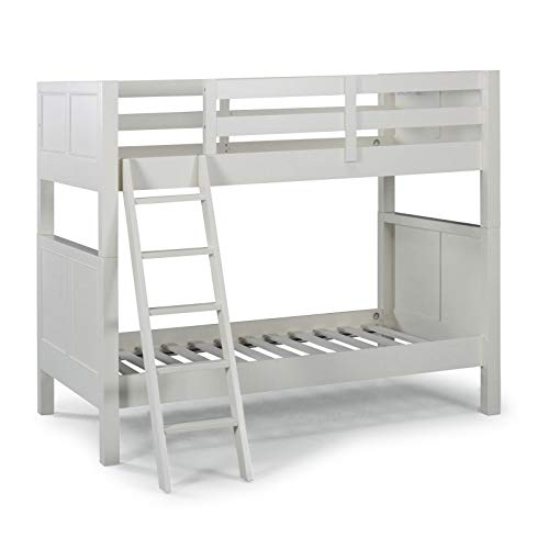Naples White Twin Over Twin Bunk Bed by Home Styles