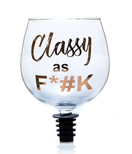 Boxer Gifts..... Really Hope Décoration Vin Glass-Classy Que FCK, 14.5 x 8.5 x 8.5 cm