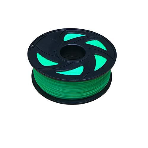 YANGDONG PLA 3D-Druckerfilament, Dimensional 1,75 Mm 1kg (2.2 £), 3D-Stiftfilament-niedriger Geruch, Chemische Beständigkeit (Color : Green)