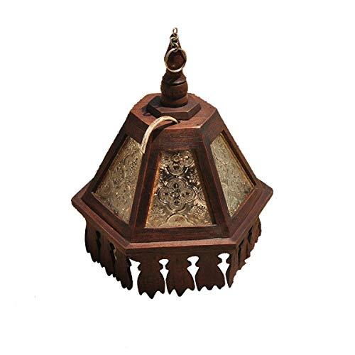 Eeayyygch Vintage massivholz pendelleuchten kronleuchter reines Hand-Schnittmuster schnitzen kreative Restaurant bar Dekoration Lampe Gang Balkon hängen pendelleuchte