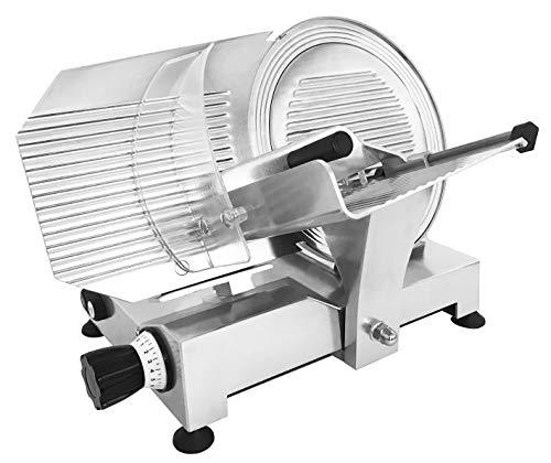 Affettatrice Professionale Diametro 300 mm in Acciaio, corpo in alluminio pressofuso brillantato