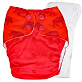 Bouncing Peaches PeachPERFECT V1.0 Cloth Diaper Go Fig-ure with Organic Cotton and Hemp Inserts(One...