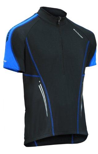BERKNER Nathan Maillot de cyclisme Noir/bleu Taille XXXXXL / 5XL