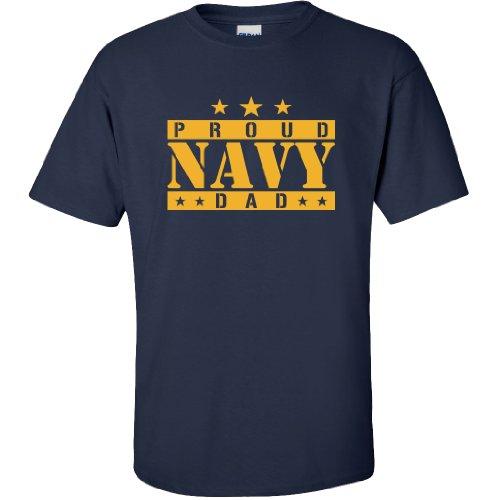 Proud Navy Dad Short Sleeve T-Shirt in Navy