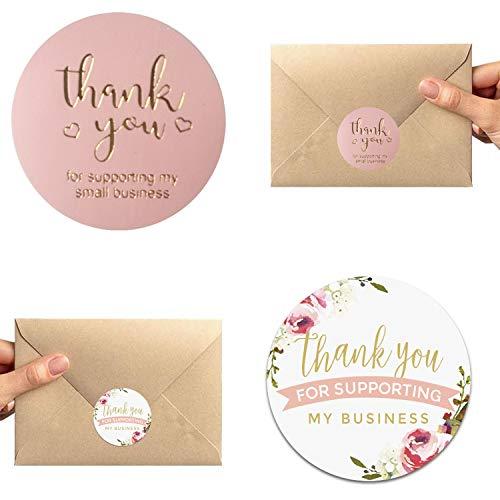 1000 piezas de papel negro flor de 2,5 cm / negro dorado / rosa / flor de papel kraft etiquetas de regalo etiquetas de regalo hechas a mano para hacer tarjetas de Navidad (rosa y flor)