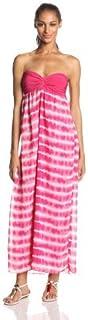 فستان طويل بتنورة شيفون بدون حمالات من Star Vixen