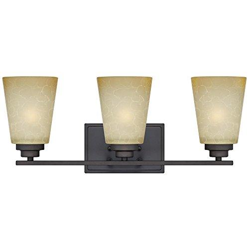 Westinghouse Lighting 63442C Ewing 3 Light Indoor Wall Fixture, Oil Rubbed Bronze