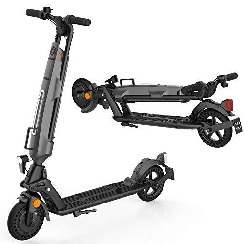 Kugoo Patinete eléctrico Plegable con certificación Abe, Batería de Repuesto, neumático de Panal de 8 Pulgadas, con Pantalla LED HD, Carga máxima de hasta 150 kg, Scooter eléctrico fácil de Plegar