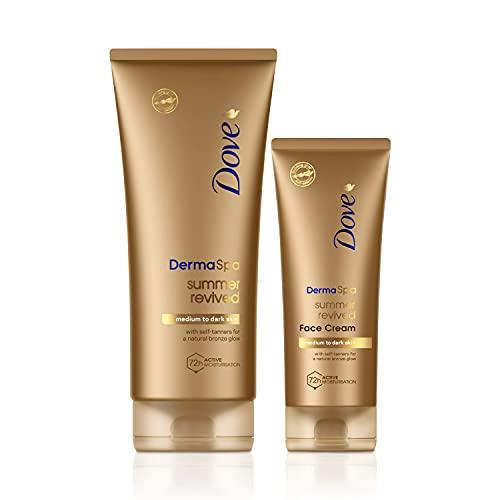 Dove Derma Spa Gradual Self-Tan Body Lotion, Medium to Dark (150ml) & Dove...