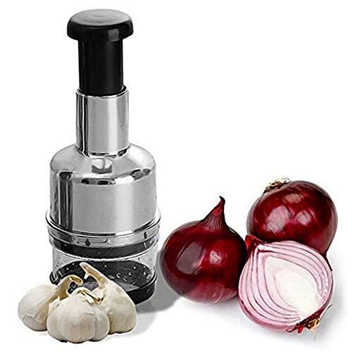 SiFree picadora de alimentos saludables para preparar frutas y verduras de acero inoxidable, picar verduras, cebolla y frutos secos con facilidad para cocina, procesador de alimentos de cebolla y cebolla