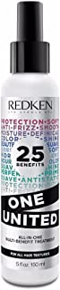 Redken One United Multi-Benefit Treatment Spray Leave-In Conditioner and Heat Protectant, 5 Ounce