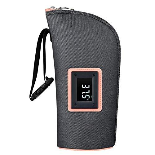 BSWL Calificador De Leche Portátil Inteligente USB, Pantalla Táctil Digital LED, Calentador De Leche con Calefacción, Botella De Leche Portátil Termostato De Termostato Calentador,Dark Blue