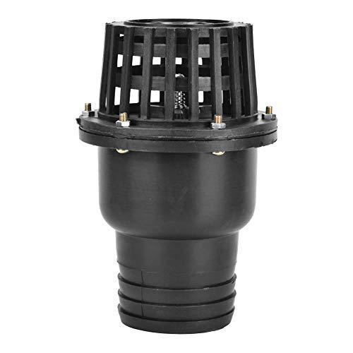 Válvula de pie de bomba de agua, Válvula de retención plana de baja presión de PVC negro, Accesorios de bomba de agua para máquina de fluidos(3in)