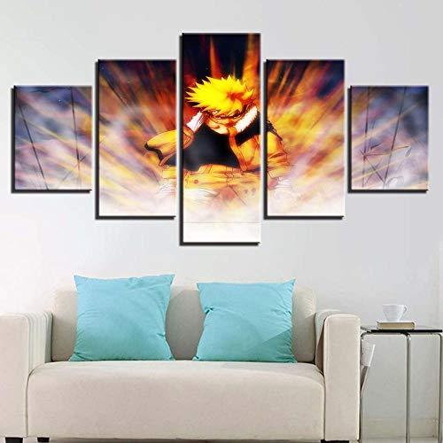 ZLLCYY Drucken Sie Insgesamt 5 Bilder Auf Die Leinwand GemäLde Bilder Poster Leinwanddruck Wohnzimmer Wanddekoration (Rahmenlos) 50 * 25cm