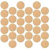 Angoily 200 Piezas de Papel de Pergamino de 23Cm Hojas de Forros Antiadherentes para Hornear Círculos de Pergamino Vaporizador de Papel para Barbacoa Freidora de Aire Ceja Ligera
