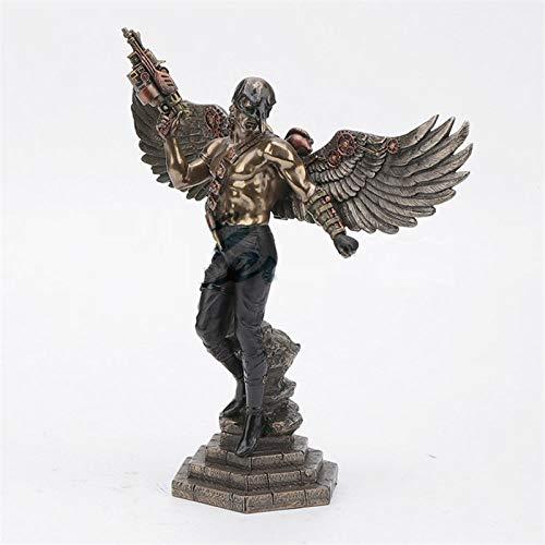 DIAOSUJIA sculptuur, in Europese stijl, creatief crow masker man standbeeld engel kunst sculptuur hars kunsthandwerk decoratie voor thuis verjaardag cadeau