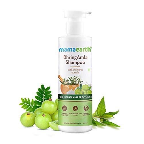 Mamaearth BhringAmla Shampoo for dry & frizzy hair with Bhringraj & Amla for Intense Hair Treatment – 250 ml
