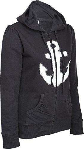 Küstenluder WHITE ANCHOR Anker Sailor Hooded Zip Sweat JACKE Rockabilly - 2