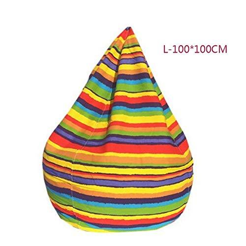 RJJX Home Funda for Silla de Bean Bags sin llenar Sala de Estar casera Cama de sofá Perezosa Casual Tatami Bean Bags Cubierta de la Silla for Adultos (Color : L 100X100CM)