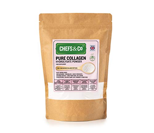 CHEFS&CO Premium Bovine Collagen peptides Powder | Hydrolysed Bovine Collagen Peptides | Superior Grass-Fed Bovine Protein Powder| 100% Natural No Artificial Colours or Flavours (Pack of 1 x 750g)