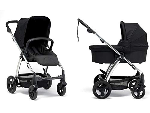 For Sale! Mamas & Papas Sola2 Stroller and Bassinet, Black Jacquard