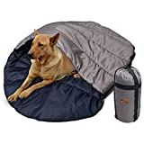KZ Dotnz Soft Warm Dog Sleeping Bag, XXL Portable Waterproof Camping Pet Bed, Packable Dog Bed for Camping, Hiking, Indoor Use