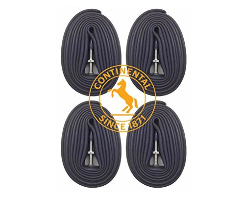 Continental Race 28' 700x18-25c Bicycle Inner Tubes - 42mm Long Presta Valve - 4 PACK