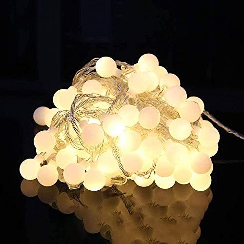 LDTSWES Luces LED Creativo Amarillo Interfaz USB Control Remoto Atenuación LED Dormitorio Vacaciones Boda Camino Jardín Decoración Lámpara Cortina Luz/Luces de Cadena