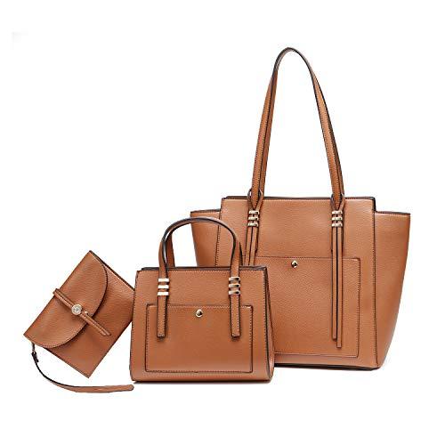 Women Fashion Handbags Tote Bag Shoulder Bag Top Handle Satchel Purse Set 3pcs
