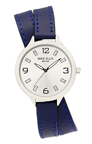 Mike Ellis New York Mujer-Reloj analógico de Cuarzo Cuero Stream Line SL3142F7