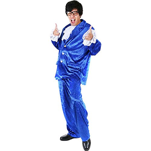 Adult Deluxe Austin Powers Costume, Size Standard