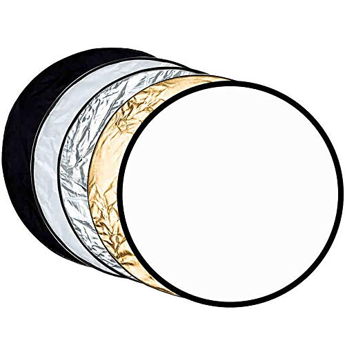 5-in-1 24'' Photography Reflector Portable Handle Light Round for Photography Photo Studio Outdoor Lighting with Bag, BEIYANG