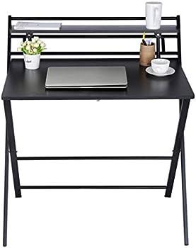 Vifucz Small Computer Desk with Shelf Foldable