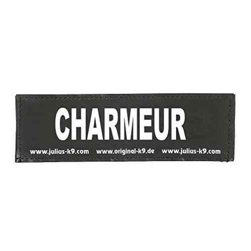 Julius-K9 162LR-G-31819 Klettaufschrift, Charmeur, schwarz