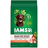 DISCONTINUED BY MANUFACTURER: IAMS ProActive Health Sensitive Skin & Stomach Grain Free Dog Food – with Real Chicken and Peas, 19 Pound Bag