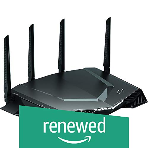 NETGEAR Nighthawk Pro Gaming XR500 WiFi Router with 4 Ethernet Ports and Wireless speeds up to 2.6 Gbps, AC2600, Optimized for Low ping (Renewed)