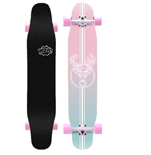 Longboards Standard Mädchen Skateboard Anfänger Dancing Deck Kinder komplett Freestyle Cruiser Longboard Erwachsene Maple Board Maximum 150kg