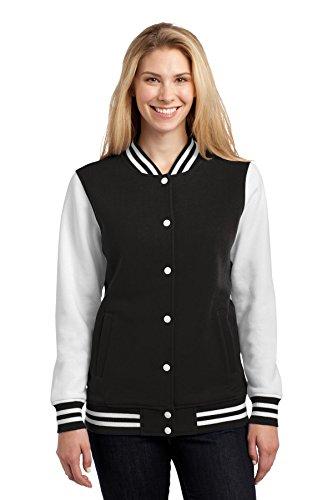 SPORT-TEK Ladies Fleece Letterman Jacket F20